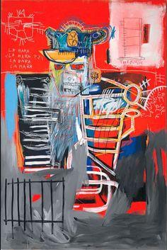 Jean-Michel Basquiat – La Hara, 1981 - https://cowboyzoom.com/art/jean-michel-basquiat-la-hara-1981/ #JeanMichelBasquiat, #Painting