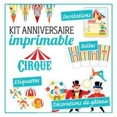 Kit anniversaire spécial Cirque