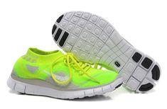 premium selection ee4c6 f0067 Buty Nike Free 5.0 Flyknit Męskie Fluorescencyjny Zielony Szary 791800-560