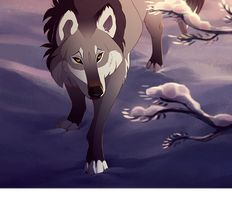 Moon.  Light Gray wolf with black Light coming up  is pretty and great at hunting. Loves to flirt and boast