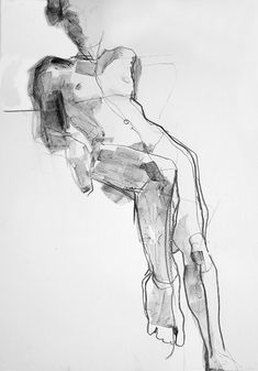 life drawing by Dee Berridge. Charcoal and wash on paper