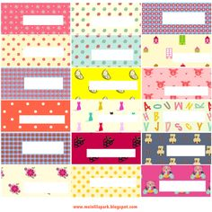 Free printable tags ◆ name plates ◆ labels