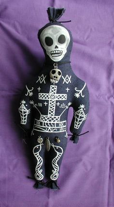 Baron Samedi Handpainted Original Voodoo Art Doll by CREEPYSTUFF, $30.00