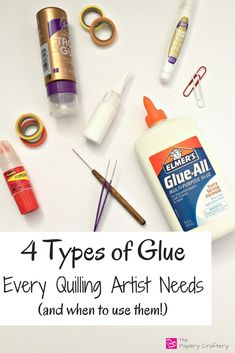 The 4 Types of Glue Every Quilling Artist Nee - Quilling Paper Crafts Quilling Images, Paper Quilling Jewelry, Origami And Quilling, Quilled Paper Art, Quilling Paper Craft, Quilling Flowers, Paper Beads, Quilled Roses, Quilling Comb