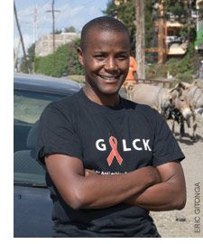 David Kuria works for the Gay and Lesbian Coalition of Kenya where he risks his life daily to provide safe sanctuary and advocacy for the rights of lesbian, gay, bisexual and transgender people in Africa and around the world. Now, he is running for Kenya's Senate. A basic tenet of his work is showing that a global push for gay rights helps bolster the fight against HIV. His dream? A day when no LGBT person has to choose between being openly gay—or being killed.