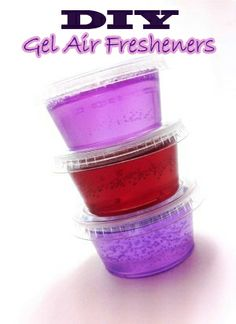 How To Make Your Own Gel Air Fresheners  http://amazingdiyideas.com/make-gel-air-fresheners/