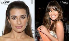 Les franges de stars les plus réussies : Lea Michele (Getty Images) | Elle Québec