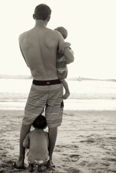 cute daddy and kids shot .. so in love with them
