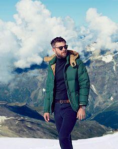 jcrew style guide december 2013 zermatt switzerland ski snow men pen field puffer jacket