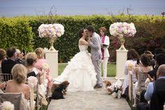 Photography: Catherine Hall Studios - catherinehallstudios.com  Read More: http://www.stylemepretty.com/california-weddings/2014/12/15/elegant-spring-malibu-wedding/