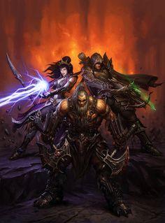 #diablo #barbare #barbarian #demon #hunter #sorcier #wizard