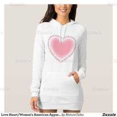 Love Heart/Women's American Apparel Hoodie Dress