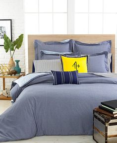 Tommy Hilfiger Modern Sand Chambray Full/Queen Duvet Cover - Bedding Collections - Bed & Bath - Macy's