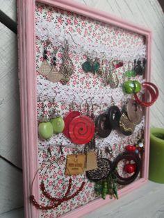 1000 images about porte boucles d 39 oreilles on pinterest - Porte boucle d oreille mural ...
