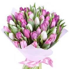 """""""Whisper of Spring"""" Tulips Bouquet"""