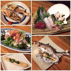 ! Assorted Sashimi Grilled Herring & Herring Roe Steamed Razor Clam ...
