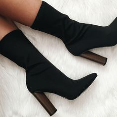 Woven Chunky Ankle Bootie Heels
