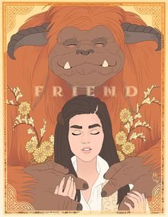 """Friend."" Sarah and Ludo. | Artist: sephiramy #labyrinth #sarahwilliams #ludo"