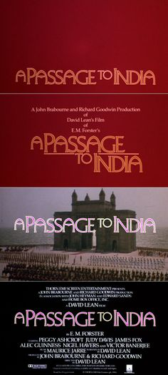 A Passage to India (1984) trailer typography - the Movie title stills collection
