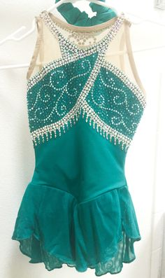 Brad Griffies Elite Figure Skating Competition Dress Jade Girls Small Size 8 | eBay