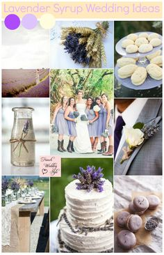 Lavender Syrup wedding inspiration from Monique's recent trip to a lavender farm and incorporating lavender and cream into a wedding theme Dried Lavender Wedding, Lavender Wedding Decorations, Flower Decorations, Wedding Colors, Lavender Ideas, Reception Decorations, Wedding Bouquets, Wedding Flowers, Lavender Syrup