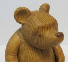 Classic Winnie The Pooh, Designed by Charpente,  Resin Carved Wood Look, Bear Jointed