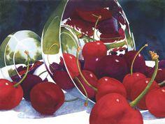 Sue Archer - Cherries in a Landscape