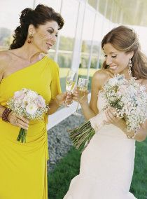 love the idea of giving our moms small bouquets instead of corsages.
