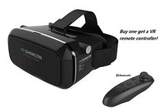 Virtual Reality Headset for 3D movies and Games for IOS and Android phones within 460 inches include Bluetooth remote controller >>> Details can be found by clicking on the image.Note:It is affiliate link to Amazon.