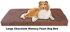 "Large Dog Beds - Large Orthopedic Memory Foam Pet Bed - 46"" X 28"" X 4"" 100% Made in USA- Best Luxury Large Breed, Washable Pet Bed You Can Buy 