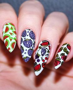 55 Stylish Fruit Stamping Nail Designs to Show Off in 2018. Looking for best nail designs? See in this post the most beautiful ideas of fruit stamping nail designs and nail arts for women in 2018. These are best ever nail arts for ladies who want to try some kind of unique designs right now. You can see here the most amazing collection of fruit nail designs to use for your next special event.