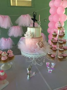 Gorgeous ballerina birthday party! See more party planning ideas at CatchMyParty.com!
