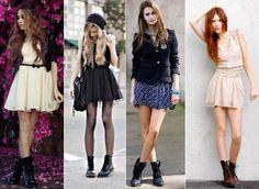 vestido com coturno