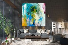 Large Abstract Painting,texture art painting,large vertical art,large abstract art,textured paintings FY0006
