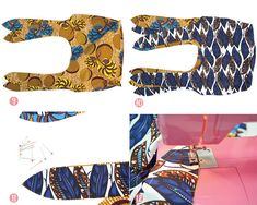 Un sac réversible en Wax diy sac wax reversible couture Ethnic Fashion, African Fashion, Fashion Art, African Style, Moda Afro, Reversible Tote Bag, Diy Sac, Couture Sewing, African Jewelry