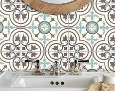 Azulejos adhesivos vinilo etiqueta impermeable extraíble para cocina baño WAL piso o escalera: M300