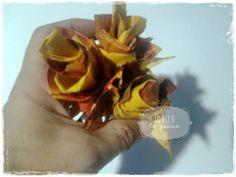 Lo Dico, lo Faccio : Bouquet di foglie d'autunno come segnaposto (e lumachina)
