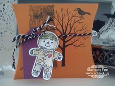 stampin Halloween pillow box Set Cookie cutter Halloween scarecrow Vogelscheuche