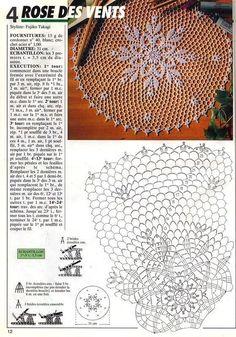 1000 Mailles № 175 — Yandex.Kira scheme crochet: Scheme crochet no. Motif Mandala Crochet, Crochet Doily Diagram, Crochet Circles, Crochet Doily Patterns, Filet Crochet, Crochet Art, Crochet Home, Thread Crochet, Crochet Dollies