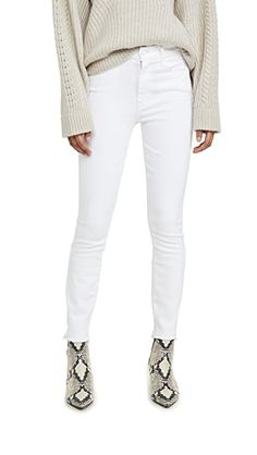 MOTHER High Waisted Looker Ankle Fray Jeans | SHOPBOP