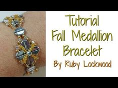 Fall Medallion Bracelet Tutorial...EARRINGS CAN EASILY BE MADE FROM THIS PATTERN AND ARE BEAUTIFUL!