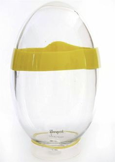 Quality Large Scandinavian Hand Blown Egg Bjorn Ronnquist Art Glass yellow pop | eBay