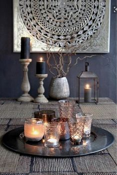 EP for the living room- paint a silver art piece with guitars Modern Moroccan Decor The Chic Street Journal Modern Moroccan Decor, Moroccan Interiors, Moroccan Style, Moroccan Inspired Bedroom, Morrocan Decor, Modern Decor, Centerpieces, Table Decorations, Centerpiece Ideas