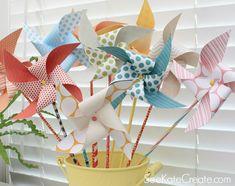 Como fazer cata-ventos de papel em minutos