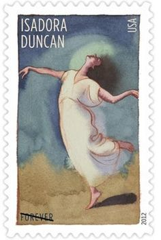 2012 - choreographers to be featured on U.S. postage stamps  - Isadora Duncan
