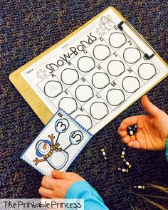 Snowman number bonds. Themed erasers make this such a fun center.