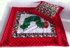Omg, im dying over this! Hungry Caterpillar Minky Blanket Set by CreativeCraftlings on Etsy, £39.99