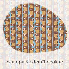 estampa Kinder   Kinder chocolate pattern
