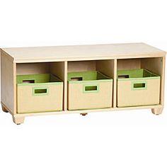 VP Home I-Cubes Lime Basket Storage Bench