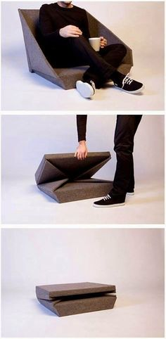 MENTŐÖTLET - kreáció, újrahasznosítás: Összecsukható fotel